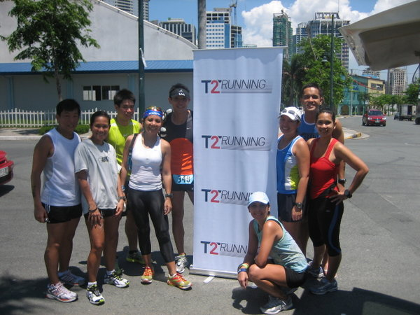 At the finish line with Emer, Ria, Bogs, Mesh, Harry, Kathy, Kristine, Dingdong